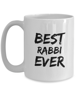 Rabbi Mug Best Ever Rabi Funny Gift for Coworkers Novelty Gag Coffee Tea Cup-Coffee Mug