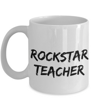 Load image into Gallery viewer, Rockstar Teacher Mug Rock Star Funny Gift Idea for Novelty Gag Coffee Tea Cup-[style]