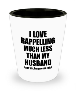 Rappelling Wife Shot Glass Funny Valentine Gift Idea For My Spouse From Husband I Love Liquor Lover Alcohol 1.5 oz Shotglass-Shot Glass