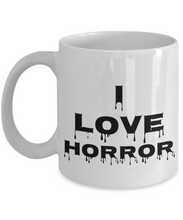 Load image into Gallery viewer, I Love Horror Mug Movie Funny Gift Idea Novelty Gag Coffee Tea Cup-Coffee Mug