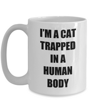 Load image into Gallery viewer, Cat Trapped Mug Human Body Funny Gift Idea for Novelty Gag Coffee Tea Cup-Coffee Mug