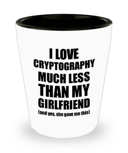 Cryptography Boyfriend Shot Glass Funny Valentine Gift Idea For My Bf From Girlfriend I Love Liquor Lover Alcohol 1.5 oz Shotglass-Shot Glass