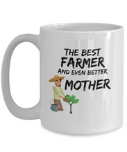 Load image into Gallery viewer, Farmer Mom Mug Best Mother Funny Gift for Mama Novelty Gag Coffee Tea Cup-Coffee Mug