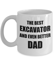 Load image into Gallery viewer, Dad Excavator Mug Funny Gift Idea for Novelty Gag Coffee Tea Cup-Coffee Mug