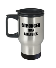 Load image into Gallery viewer, Allergies Travel Mug Awareness Survivor Gift Idea for Hope Cure Inspiration Coffee Tea 14oz Commuter Stainless Steel-Travel Mug