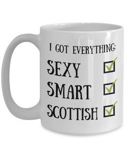 Scottish Coffee Mug Scotland Pride Sexy Smart Funny Gift for Humor Novelty Ceramic Tea Cup-Coffee Mug