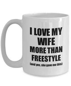 Freestyle Husband Mug Funny Valentine Gift Idea For My Hubby Lover From Wife Coffee Tea Cup-Coffee Mug