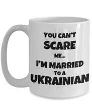 Load image into Gallery viewer, Ukrainian Husband Wife Mug Funny Ukraine Couple Gift For My Lover Present Married Coffee Tea Cup-Coffee Mug