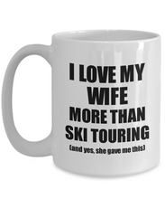 Load image into Gallery viewer, Ski Touring Husband Mug Funny Valentine Gift Idea For My Hubby Lover From Wife Coffee Tea Cup-Coffee Mug