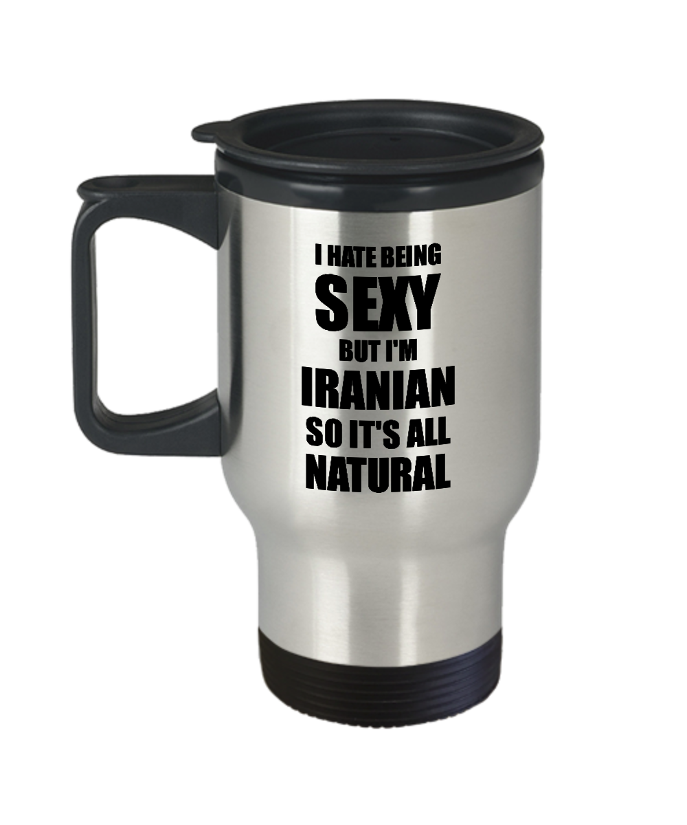 Sexy Iranian Travel Mug Funny Gift For Husband Wife Bf Gf Iran Pride Coffee Tea Insulated Lid Commuter-Travel Mug