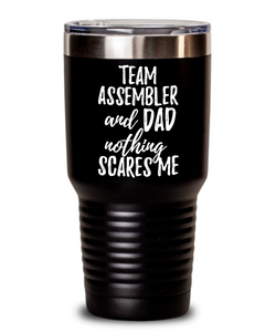 Funny Team Assembler Dad Tumbler Gift Idea for Father Gag Joke Nothing Scares Me Coffee Tea Insulated Cup With Lid-Tumbler
