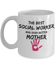 Load image into Gallery viewer, Social Worker Mom Mug Best Mother Funny Gift for Mama Novelty Gag Coffee Tea Cup-Coffee Mug