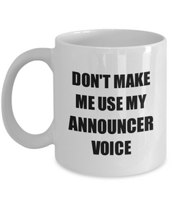 Announcer Mug Coworker Gift Idea Funny Gag For Job Coffee Tea Cup-Coffee Mug