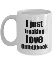 Load image into Gallery viewer, Ontbijtkoek Lover Mug I Just Freaking Love Funny Gift Idea For Foodie Coffee Tea Cup-Coffee Mug