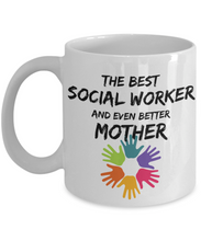Load image into Gallery viewer, Socialworker Mom Mug Best Social Worker Mother Funny Gift for Mama Novelty Gag Coffee Tea Cup-Coffee Mug