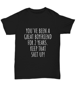 2 Years Anniversary Boyfriend T-Shirt Funny Gift for BF 2nd Dating Relationship-Shirt / Hoodie