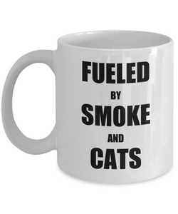 Cat Smoke Mug Funny Gift Idea for Novelty Gag Coffee Tea Cup-Coffee Mug