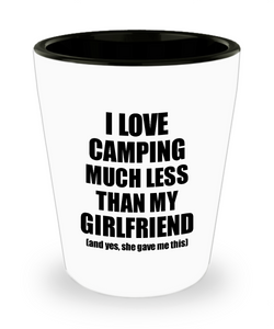 Camping Boyfriend Shot Glass Funny Valentine Gift Idea For My Bf From Girlfriend I Love Liquor Lover Alcohol 1.5 oz Shotglass-Shot Glass