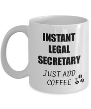 Load image into Gallery viewer, Legal Secretary Mug Instant Just Add Coffee Funny Gift Idea for Corworker Present Workplace Joke Office Tea Cup-Coffee Mug