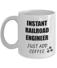 Load image into Gallery viewer, Railroad Engineer Mug Instant Just Add Coffee Funny Gift Idea for Corworker Present Workplace Joke Office Tea Cup-Coffee Mug