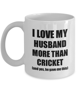 Cricket Wife Mug Funny Valentine Gift Idea For My Spouse Lover From Husband Coffee Tea Cup-Coffee Mug