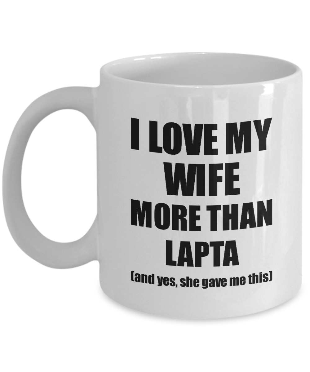 Lapta Husband Mug Funny Valentine Gift Idea For My Hubby Lover From Wife Coffee Tea Cup-Coffee Mug