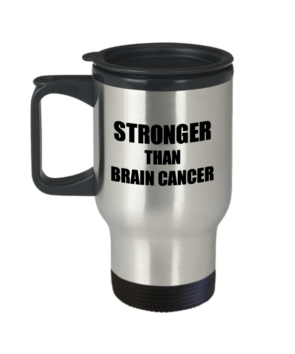Brain Cancer Travel Mug Awareness Survivor Gift Idea for Hope Cure Inspiration Coffee Tea 14oz Commuter Stainless Steel-Travel Mug