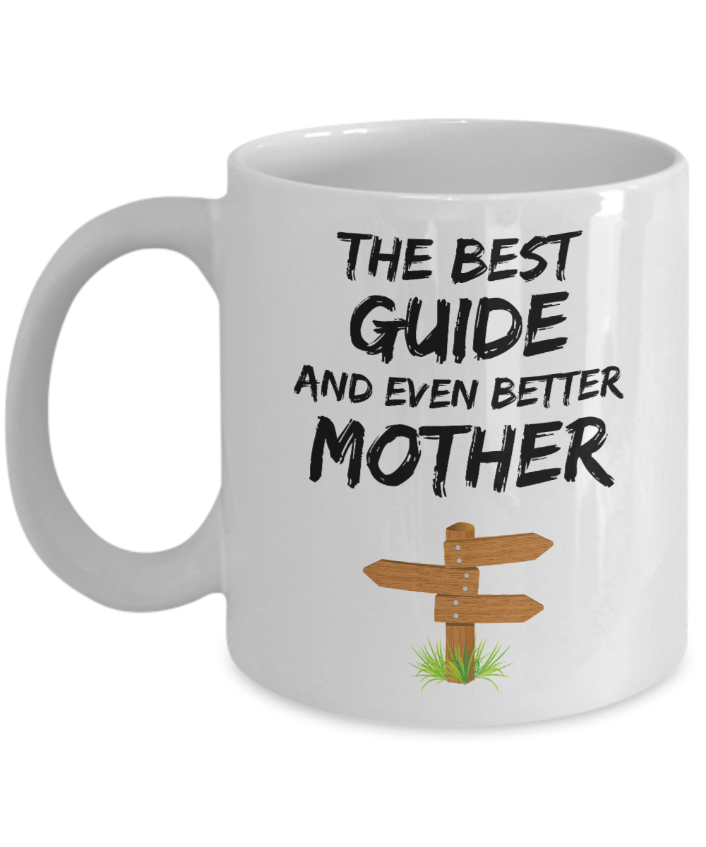Guide Mom Mug - Best Tour Guide Mother Ever - Funny Gift for Guide Mama-Coffee Mug
