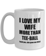 Load image into Gallery viewer, Tee-Ball Husband Mug Funny Valentine Gift Idea For My Hubby Lover From Wife Coffee Tea Cup-Coffee Mug