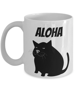 Cat Hawaiin Mug Aloha Funny Gift Idea for Novelty Gag Coffee Tea Cup-[style]