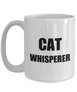Cat Whisperer Mug Funny Gift Idea for Novelty Gag Coffee Tea Cup-Coffee Mug
