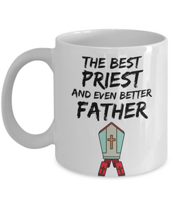 Priest Dad Mug - Best Priest Father Ever - Funny Gift for Priest Daddy-Coffee Mug