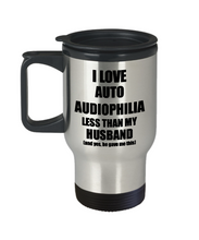 Load image into Gallery viewer, Auto Audiophilia Wife Travel Mug Funny Valentine Gift Idea For My Spouse From Husband I Love Coffee Tea 14 oz Insulated Lid Commuter-Travel Mug