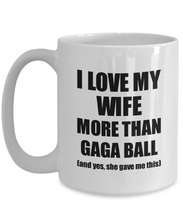 Load image into Gallery viewer, Gaga Ball Husband Mug Funny Valentine Gift Idea For My Hubby Lover From Wife Coffee Tea Cup-Coffee Mug