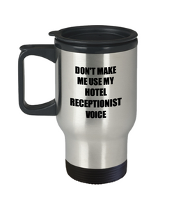 Hotel Receptionist Travel Mug Coworker Gift Idea Funny Gag For Job Coffee Tea 14oz Commuter Stainless Steel-Travel Mug