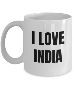 I Love India Mug Funny Gift Idea Novelty Gag Coffee Tea Cup-Coffee Mug