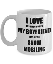 Load image into Gallery viewer, Snow Mobiling Mug Funny Gift Idea For Girlfriend I Love It When My Boyfriend Lets Me Novelty Gag Sport Lover Joke Coffee Tea Cup-Coffee Mug