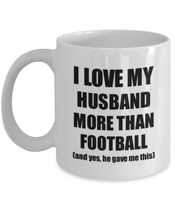 Football Wife Mug Funny Valentine Gift Idea For My Spouse Lover From Husband Coffee Tea Cup-Coffee Mug