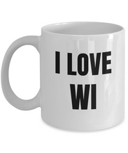 Load image into Gallery viewer, I Love Wi Mug Wisconsin Funny Gift Idea Novelty Gag Coffee Tea Cup-Coffee Mug