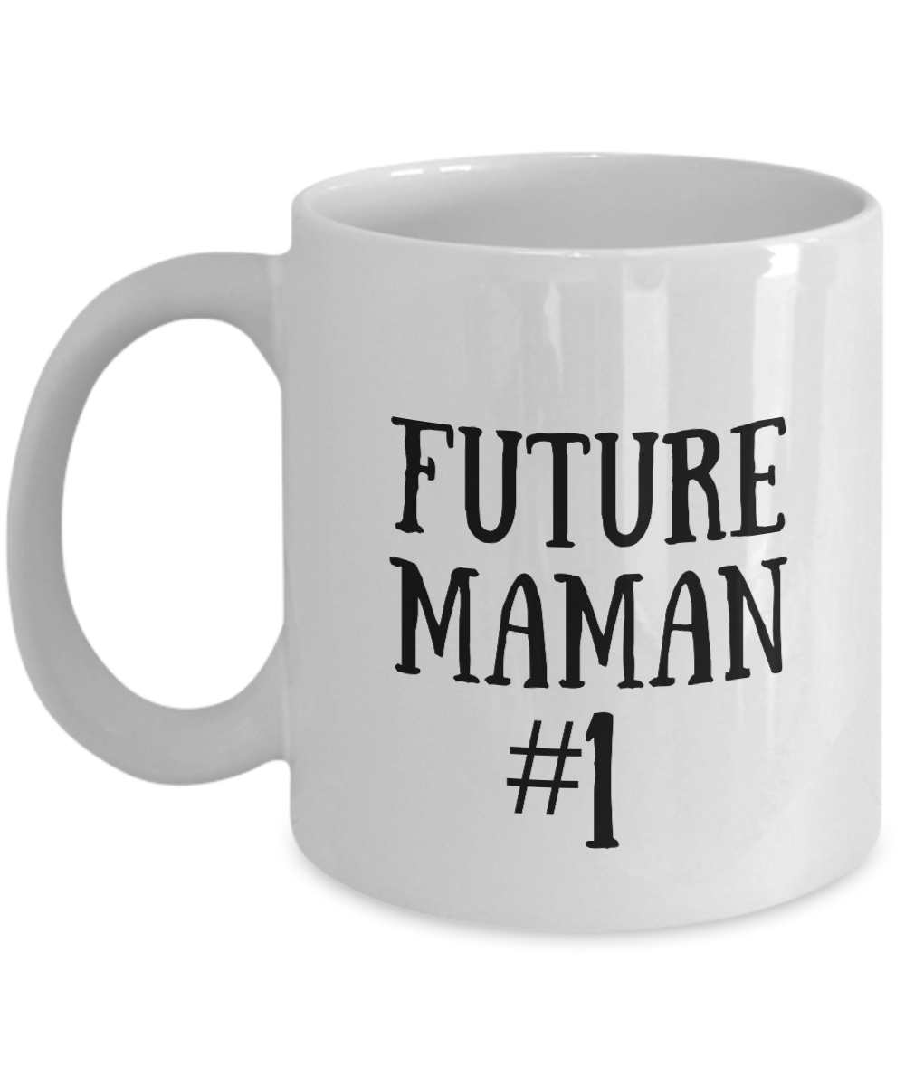 Cadeau Pour Maman Futur Mom Mug In French Funny Gift Idea for Novelty Gag Coffee Tea Cup-[style]