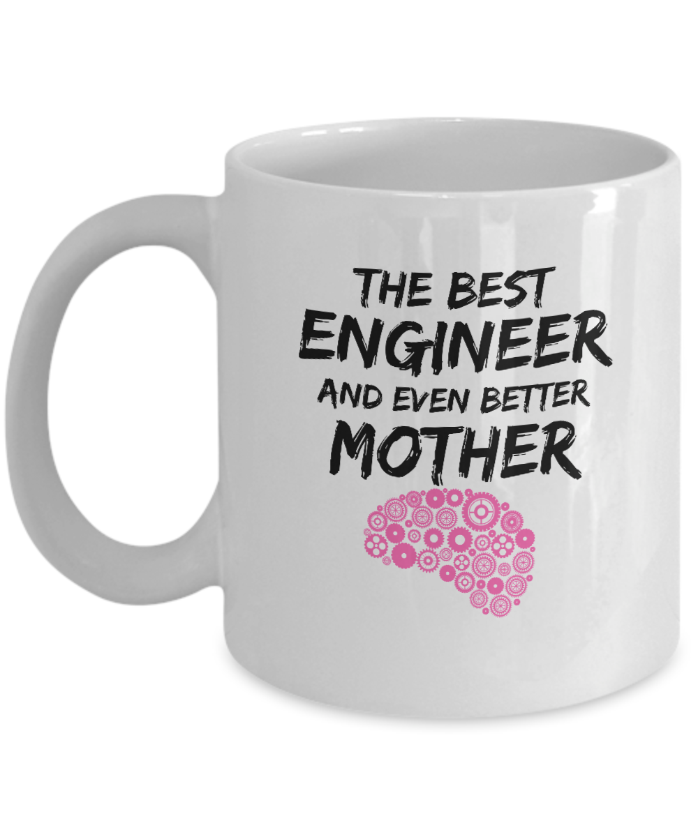 Funny Engineer Mom Mug Best Enginer Mother Coffee Cup-Coffee Mug