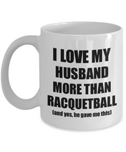 Load image into Gallery viewer, Racquetball Wife Mug Funny Valentine Gift Idea For My Spouse Lover From Husband Coffee Tea Cup-Coffee Mug