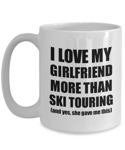Ski Touring Boyfriend Mug Funny Valentine Gift Idea For My Bf Lover From Girlfriend Coffee Tea Cup-Coffee Mug