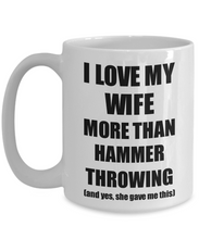 Load image into Gallery viewer, Hammer Throwing Husband Mug Funny Valentine Gift Idea For My Hubby Lover From Wife Coffee Tea Cup-Coffee Mug