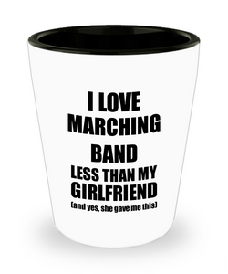 Marching Band Boyfriend Shot Glass Funny Valentine Gift Idea For My Bf From Girlfriend I Love Liquor Lover Alcohol 1.5 oz Shotglass-Shot Glass
