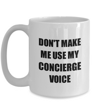 Load image into Gallery viewer, Concierge Mug Coworker Gift Idea Funny Gag For Job Coffee Tea Cup-Coffee Mug