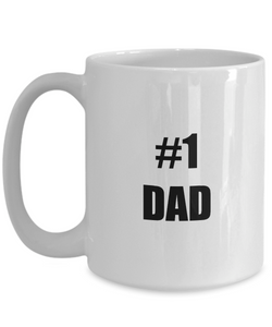 No 1 Dad Mug Funny Gift Idea for Novelty Gag Coffee Tea Cup-Coffee Mug