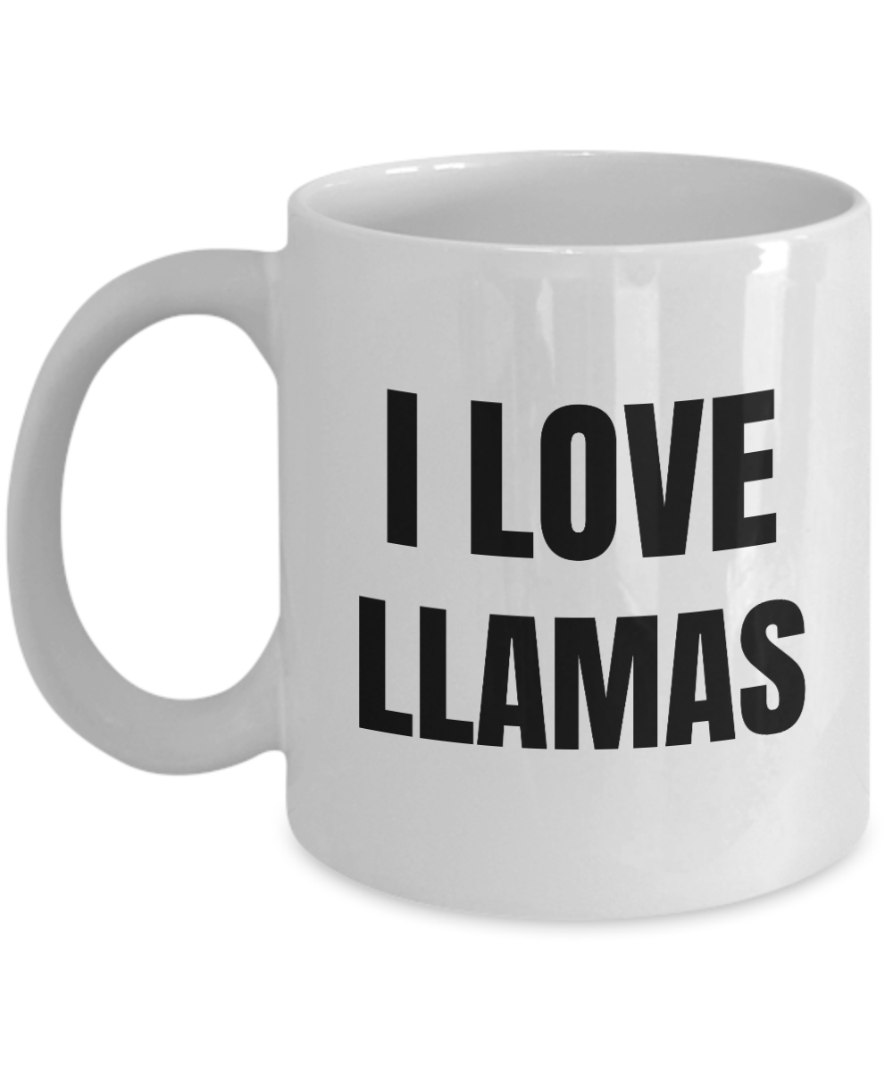 I Love Llamas Mug Funny Gift Idea Novelty Gag Coffee Tea Cup-Coffee Mug