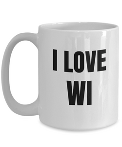 I Love Wi Mug Wisconsin Funny Gift Idea Novelty Gag Coffee Tea Cup-Coffee Mug