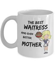 Load image into Gallery viewer, Cute Waitress Mom Coffee Mug Best Mother Funny Gift for Mama Novelty Gag Tea Cup-Coffee Mug